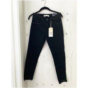 ZARA Mid Rise Skinny Ankle Jeans - Black